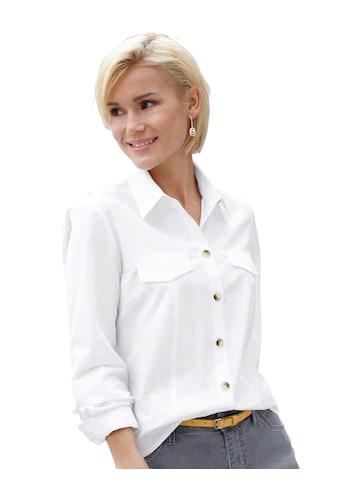 Casual Looks Bluse mit kontrastfarbigen Knöpfen kaufen