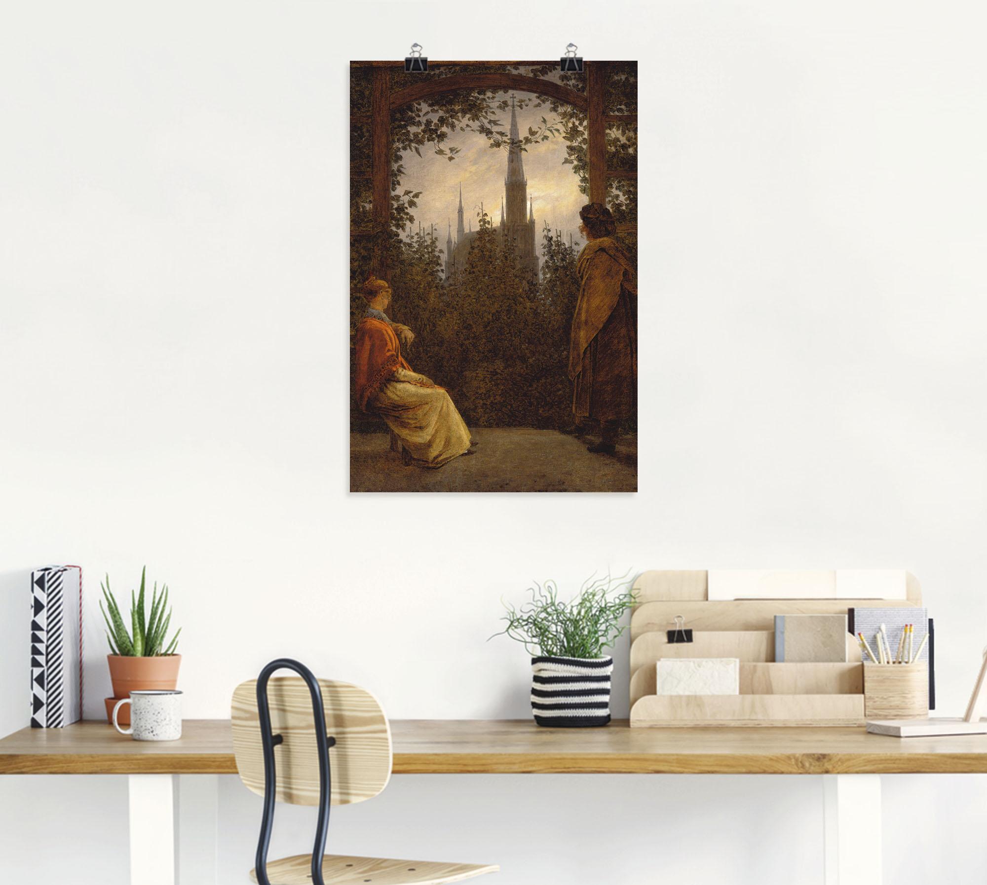 """Das Wandbild mit dem Motiv """"Gartenlaube. 1818."""" des Künstlers Caspar David günstig online kaufen"""