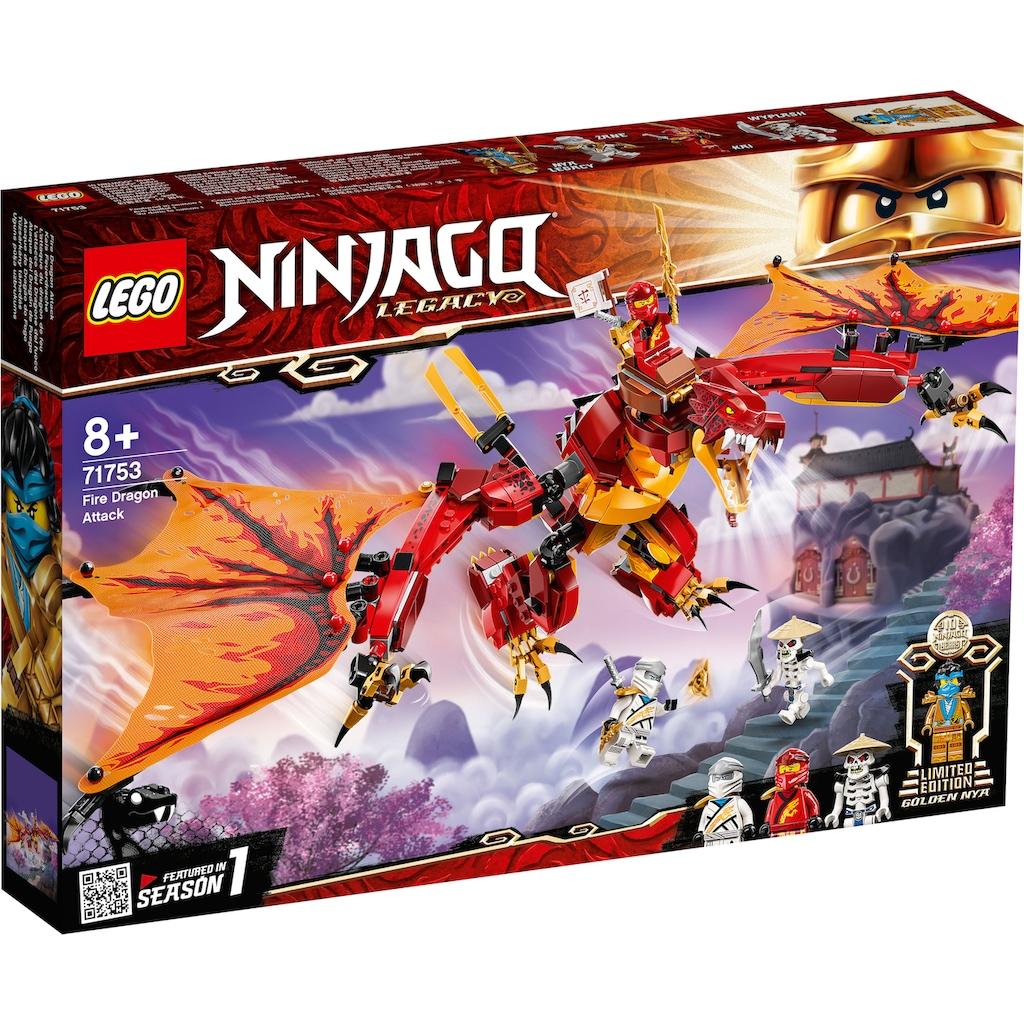 LEGO® Konstruktionsspielsteine »Kais Feuerdrache (71753), LEGO® NINJAGO®«, (563 St.), Made in Europe
