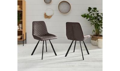 Duo Collection Esszimmerstuhl »Emily«, 2er-Set, elegante Rautensteppung kaufen