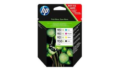 HP Tintenpatrone »hp 950XL + 951XL Original Kombi-Pack Schwarz, Cyan, Magenta, Gelb - C2P43AE -« kaufen