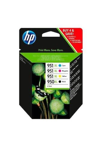 HP Tintenpatrone »hp 950XL + 951XL Original Kombi-Pack Schwarz, Cyan, Magenta, Gelb -... kaufen