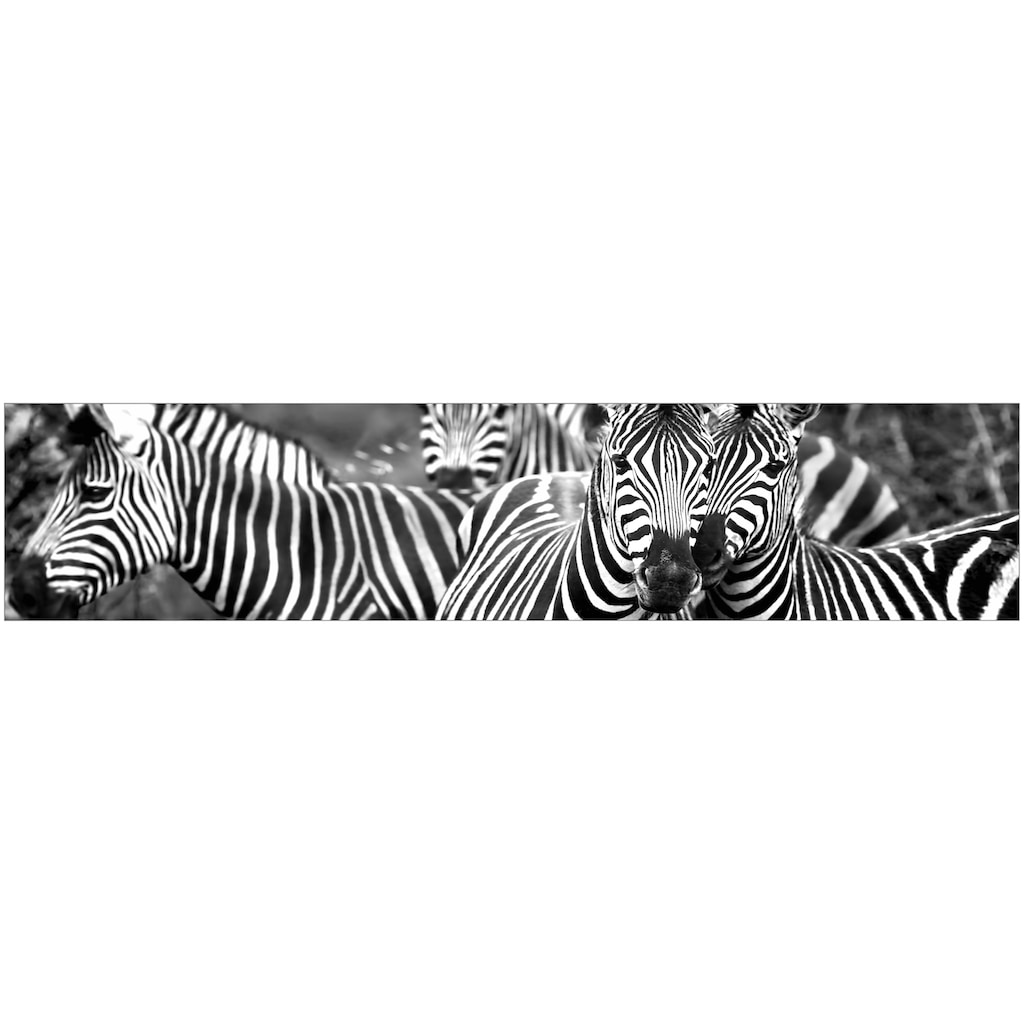 MySpotti Küchenrückwand »fixy Zebra herd«, selbstklebende und flexible Küchenrückwand-Folie