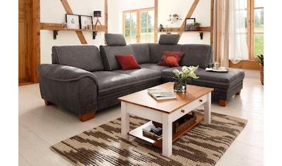 Home affaire Ecksofa »Husum«, mit Sitztiefenverstellung, Federkern-Polsterung und Kontrastnaht kaufen