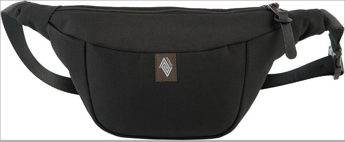 NITRO Gürteltasche Hip Bag, True Black schwarz Kinder Reisetaschen Reisegepäck