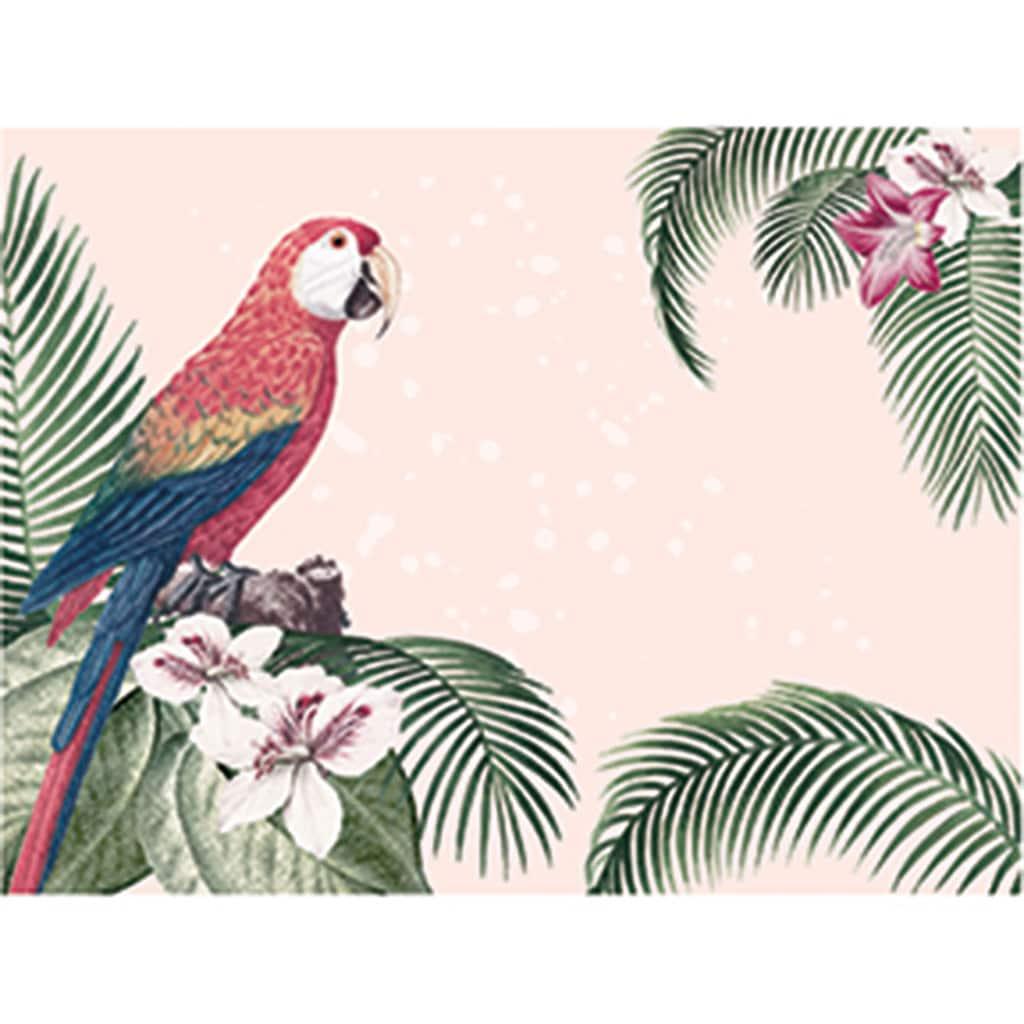 Contento Platzset »Dolonial Parrot«, (Set, 4 St.), für innen und außen geeignet, wasserabweisend