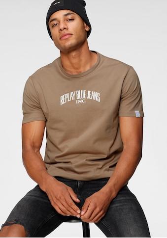 Replay T-Shirt, mit Markenprint kaufen
