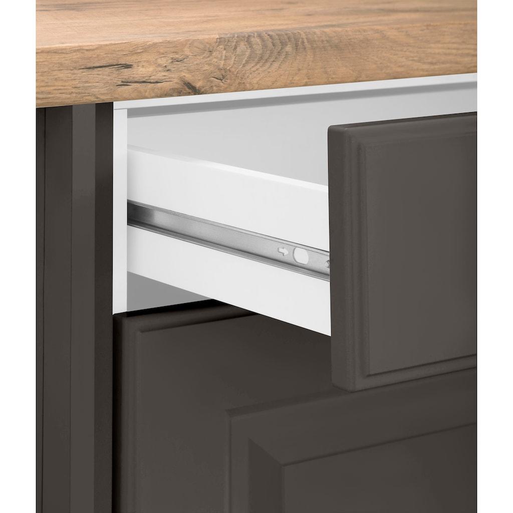 wiho Küchen Eckunterschrank »Erla«, 110 cm breit mit Kassettenfront