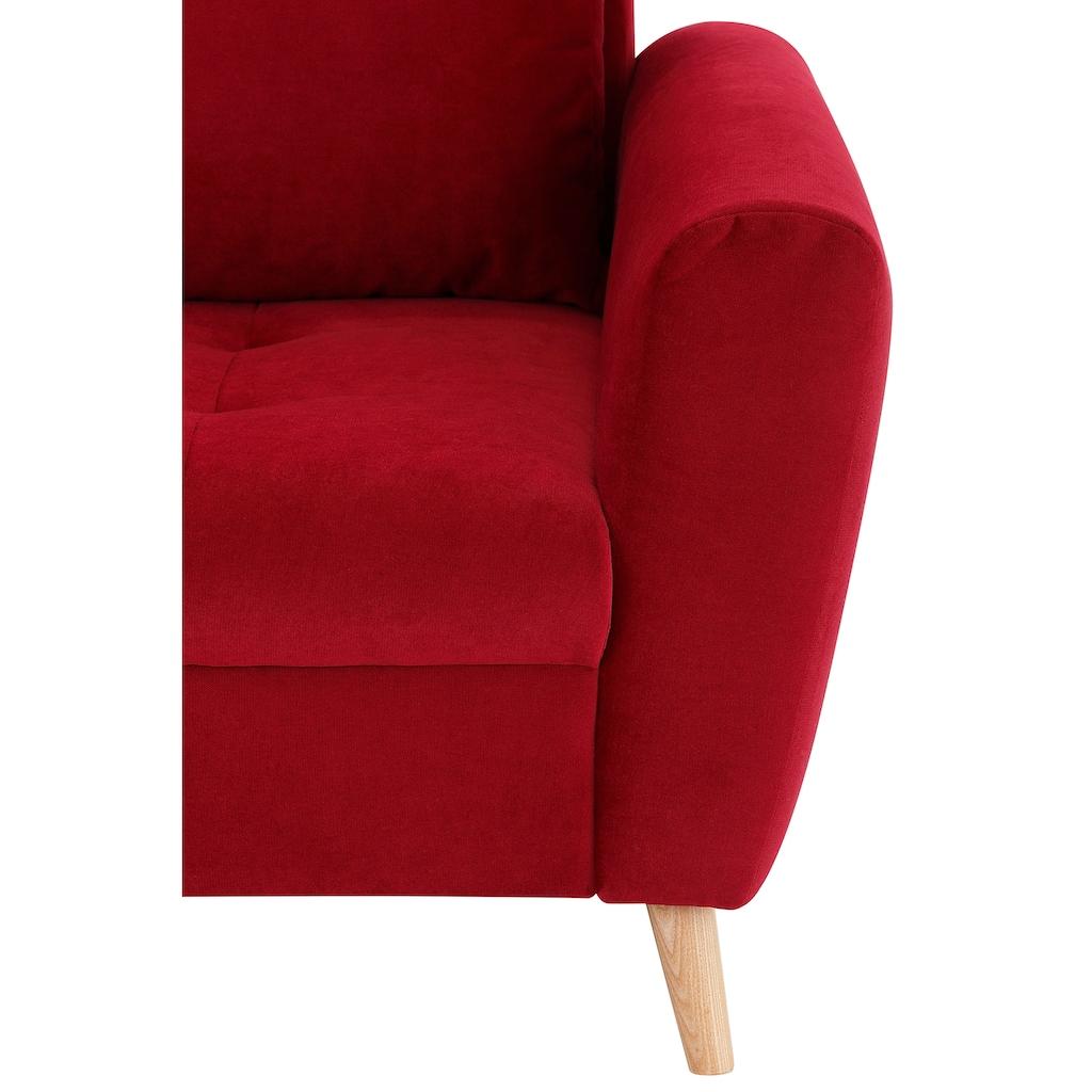 Home affaire 2,5-Sitzer »Penelope Luxus«, mit besonders hochwertiger Polsterung für bis zu 140 kg pro Sitzfläche