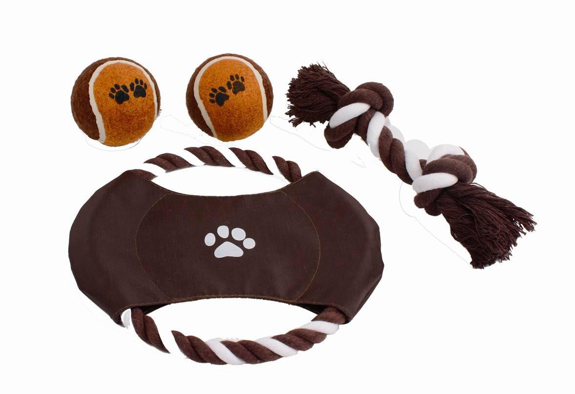 HEIM Outdoor-Spielzeug, Baumwolle, (Set, 4 St.) braun Hundespielzeug Hund Tierbedarf Outdoor-Spielzeug