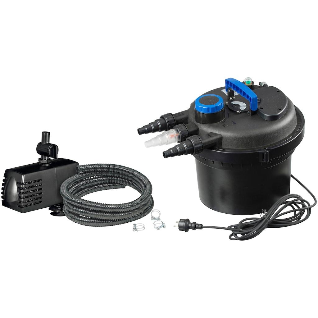 Ubbink Teichfilter »Druckfilter BioPressure II 6000 Plus«, 6.000 l/h, inkl. UV-C Gerät und Teichpumpe