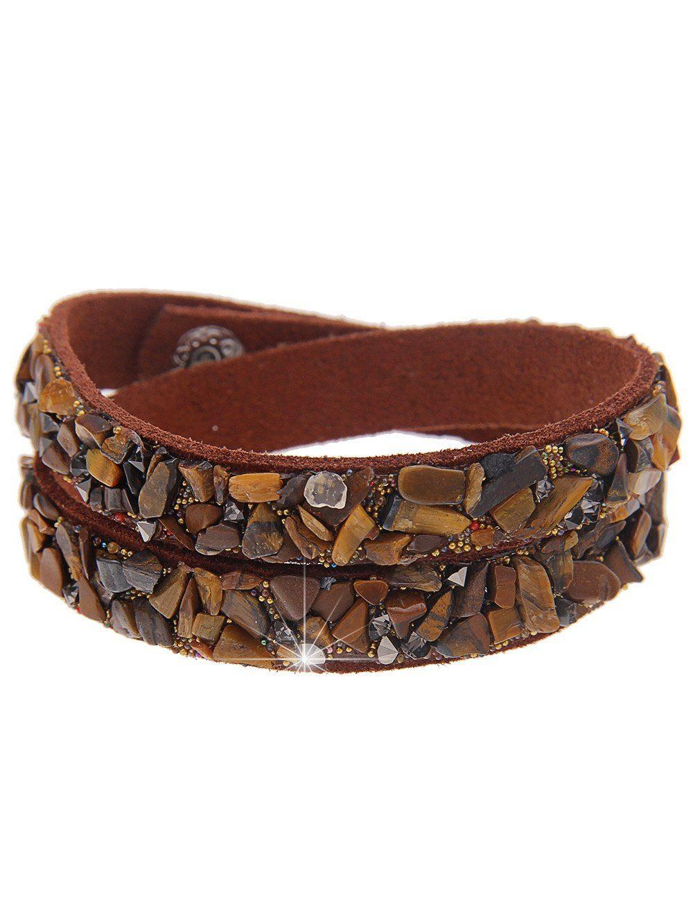 leslii Armband, in Wickel-Optik braun Damen Armband Armbänder Schmuck 4250980346063