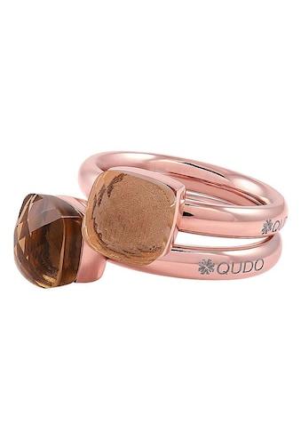 qudo Ring-Set »Firenze small, O600092, O600093, O600094, O600095, O600096«, (Set, 2 tlg.), mit Zirkonia kaufen