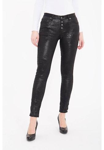 Blue Monkey Skinny-fit-Jeans »Alexis 1624«, mit edler Glanzbeschichtung kaufen