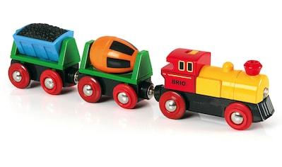 BRIO® Spielzeug-Eisenbahn »BRIO® WORLD Zug mit Batterielok«, mit LichtMade in Europe,... kaufen