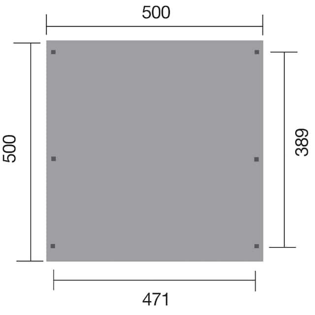 WEKA Doppelcarport »Leif Duo«, BxT: 500x500 cm