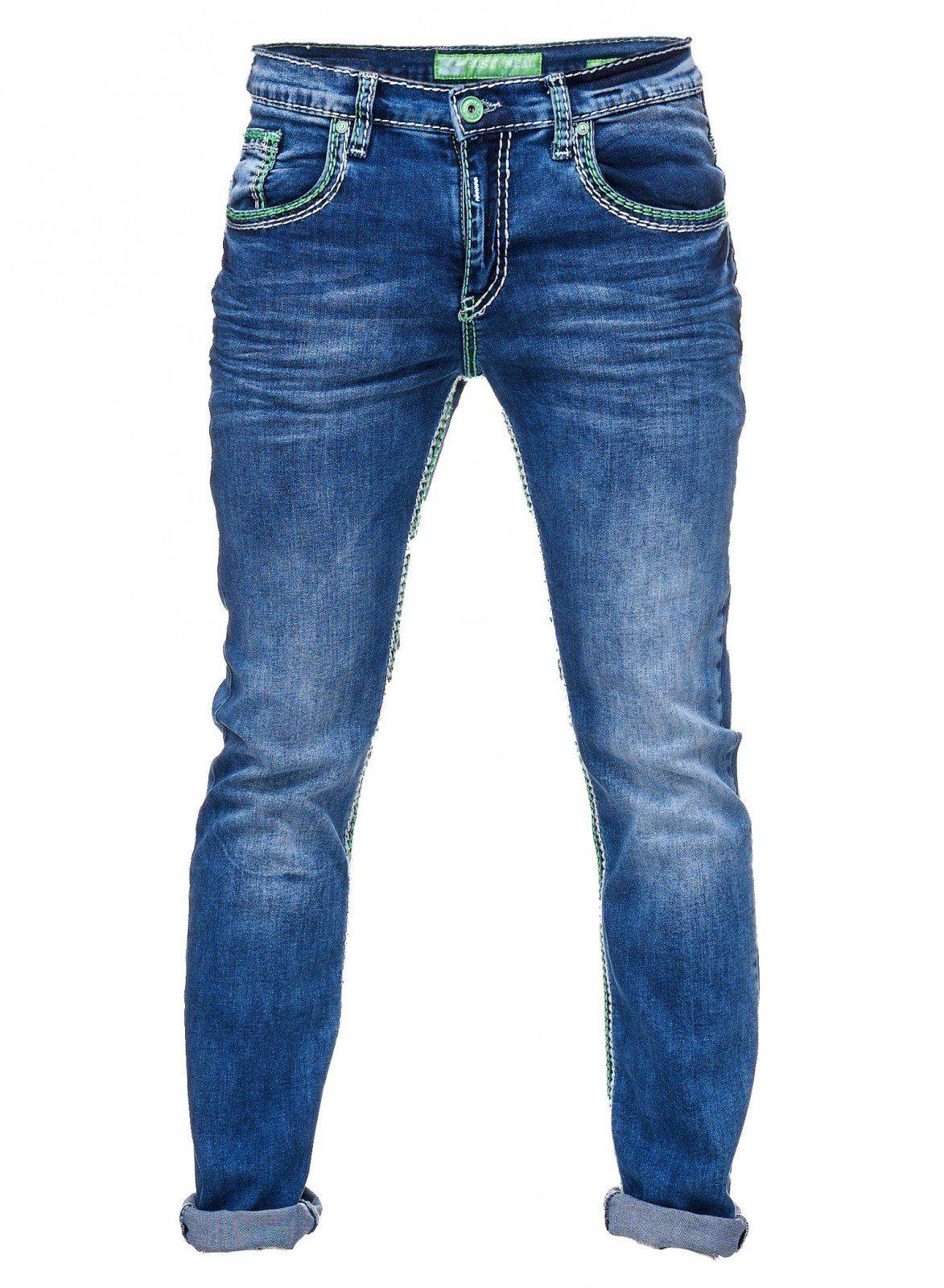 6170718e4e828b Bildquelle: Rusty Neal Jeans mit farblich abgesetzten Nähten