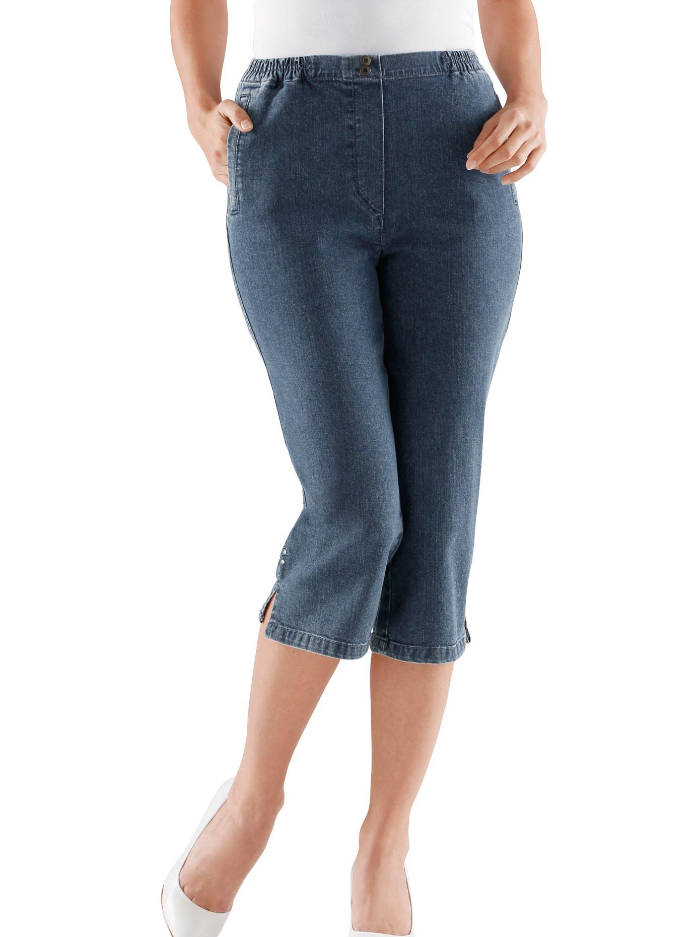 Classic Basics Capri-Jeans mit bequemem Rundum-Dehnbund | Bekleidung > Jeans > Caprijeans | Blau | Jeans | Classic Basics