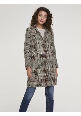Mantel mit modischem Karo kaufen