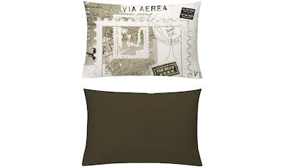 Kissenhüllen, »Postcard sepia«, emotion textiles kaufen