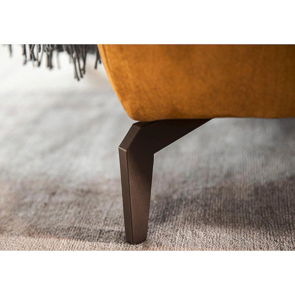 W.SCHILLIG Ecksofa »wilson«, in Trendfarbe Kurkuma, Füße Bronze pulverbeschichtet, Breite 292 cm