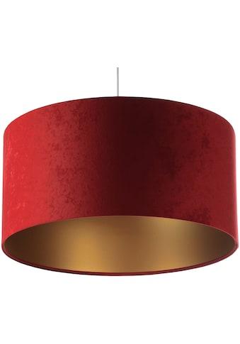 Jens Stolte Leuchten Pendelleuchte »Paula«, E27, 2 St., Textilpendel, rot, 50cm Ø,... kaufen