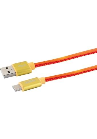 Schwaiger USB C Kabel, 1,5m Ladekabel für Samsung, Huawei, LG, etc. »USB 2.0 A zu USB 3.1 C« kaufen