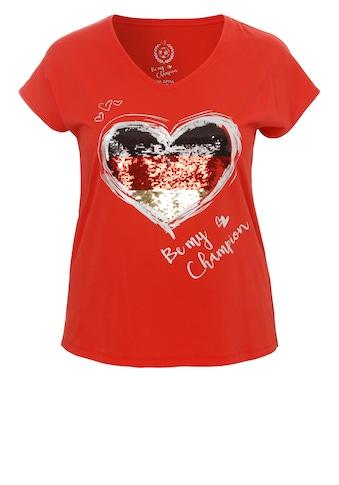 VIA APPIA WM - Shirt mit Wendepailletten »Be my Champion« kaufen