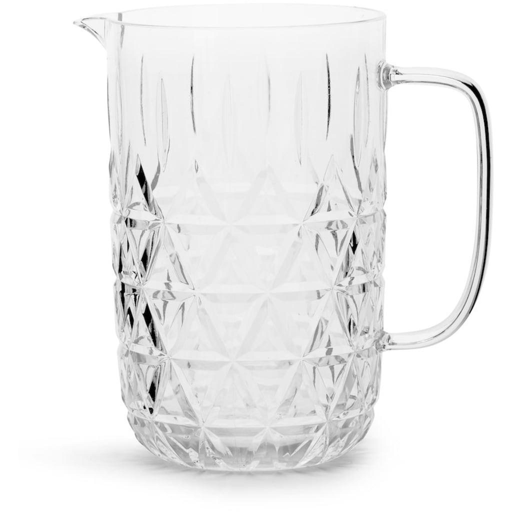 sagaform Karaffe, (1 tlg.), Acryl-Glas mit Dreieck-Prägung