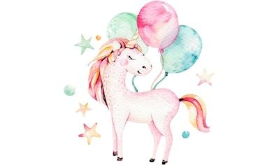 Wandtattoo »Kvilis  -  Einhorn mit Luftballons« kaufen