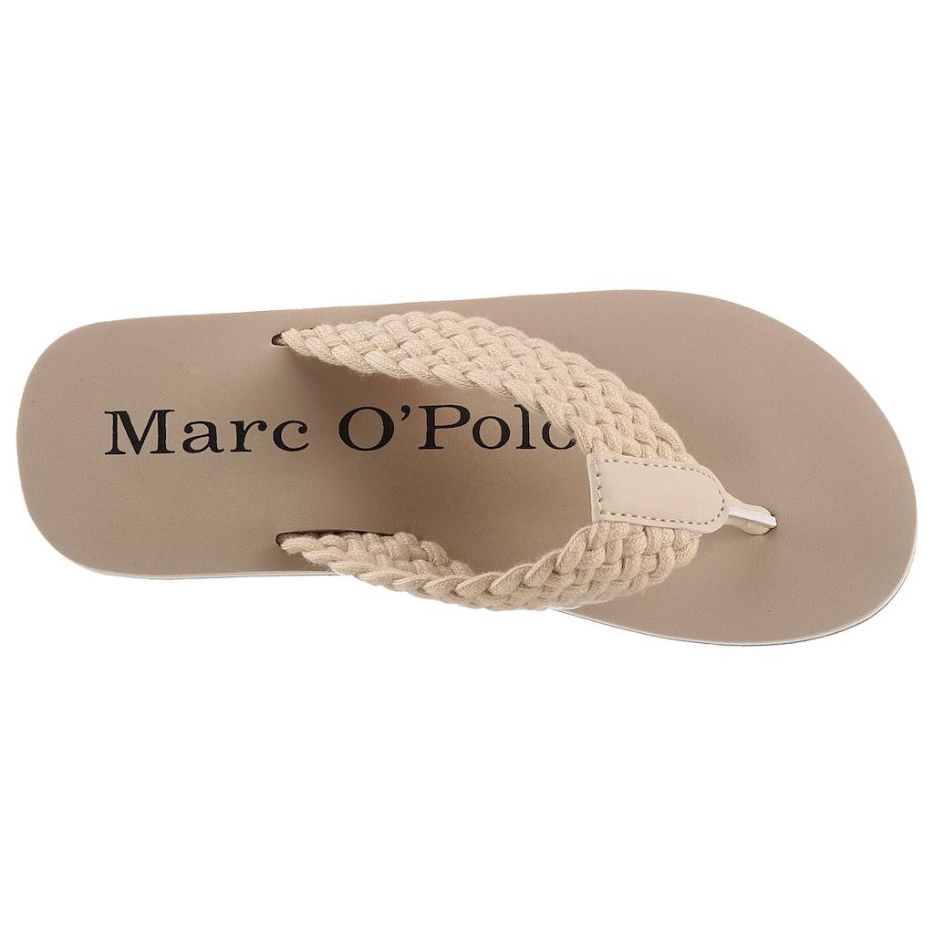 Marc O'Polo Zehentrenner »DORA 3D BEACH SANDAL«, mit geflochtener Bandage