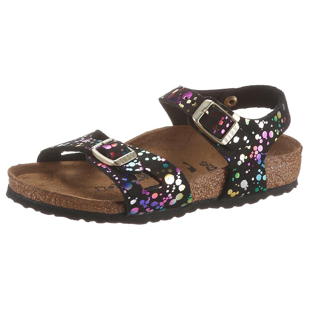 Birkenstock Sandale »Rio Inspired Confetti«, mit verstellbaren Schnallen, schmale Schuhweite