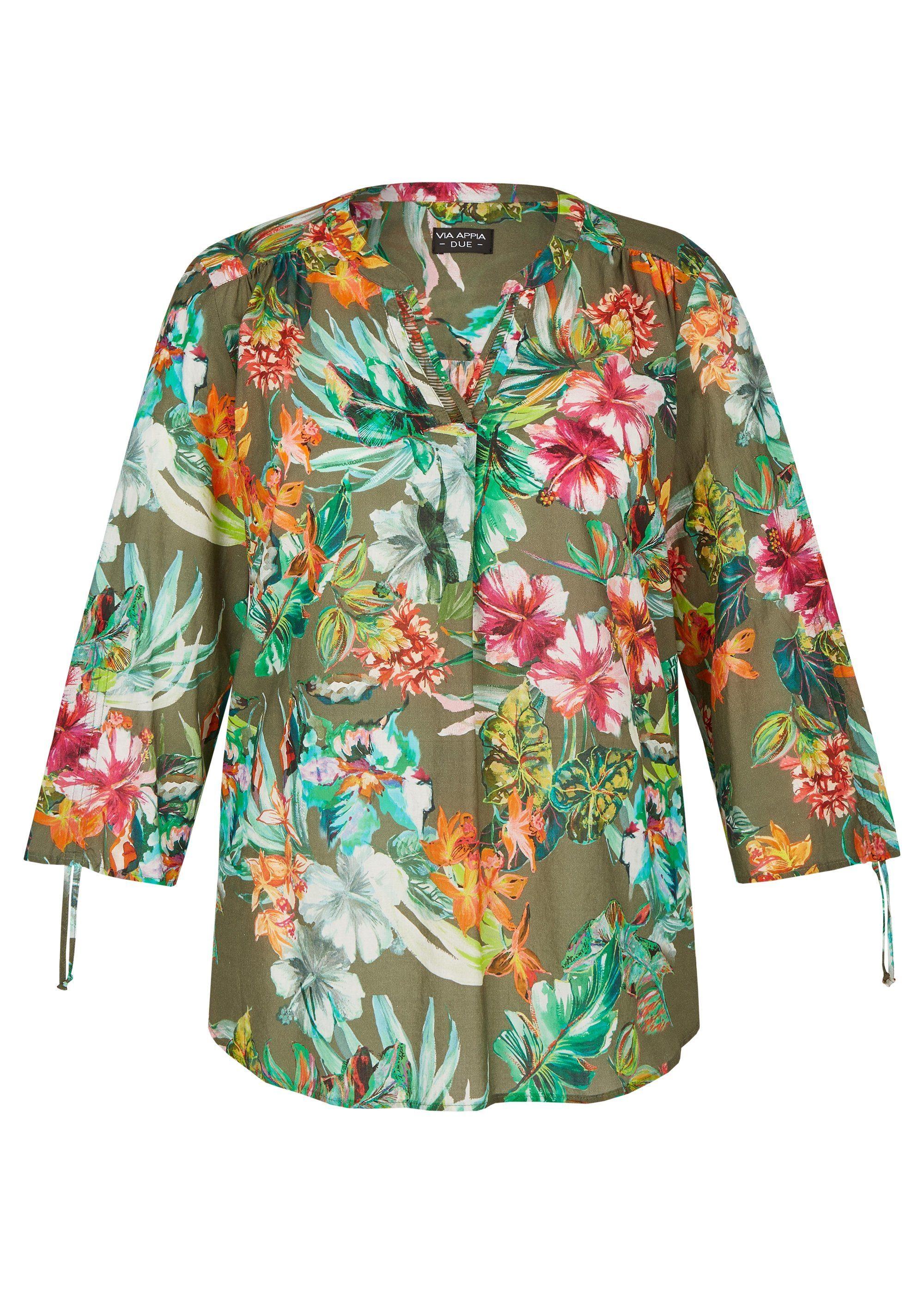 VIA APPIA DUE Luftige Bluse mit exotischem Print