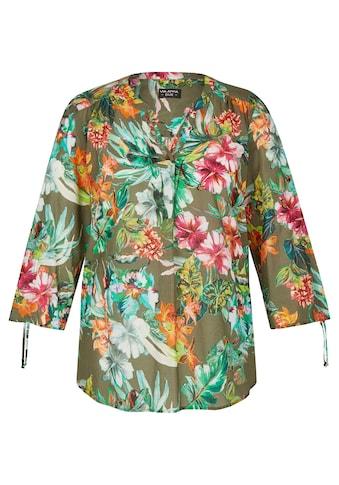 VIA APPIA DUE Luftige Bluse mit exotischem Print kaufen