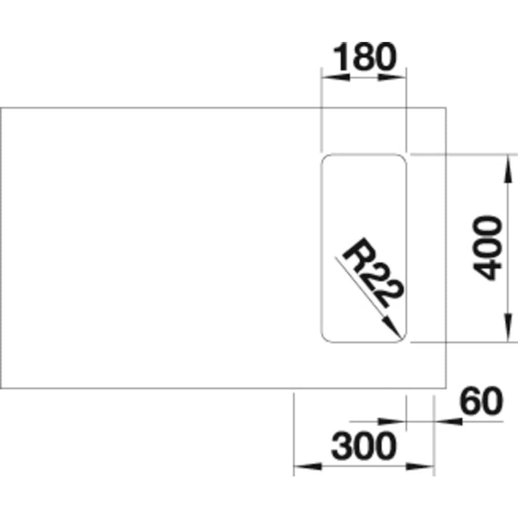 Blanco Küchenspüle »ANDANO 180-U«
