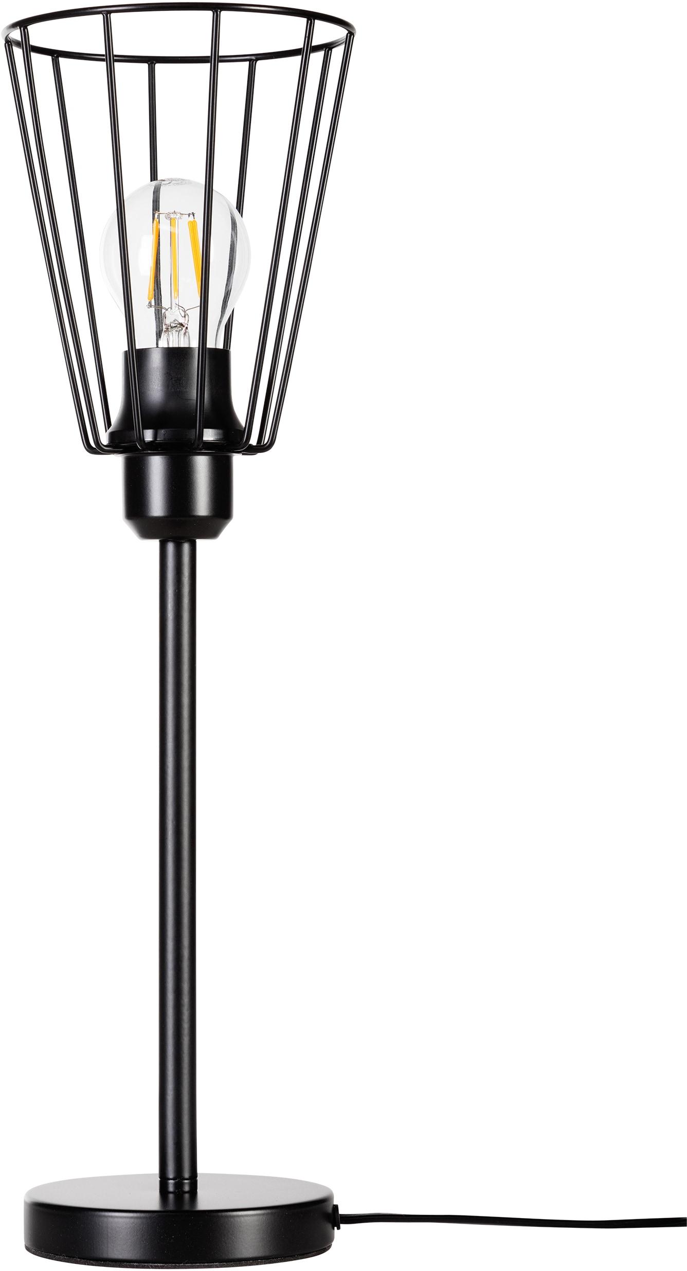 BRITOP LIGHTING Tischleuchte Swan, E27, 1 St., Dekorative Leuchte aus Metall, passende LM E27 / exklusive, Made in Europe