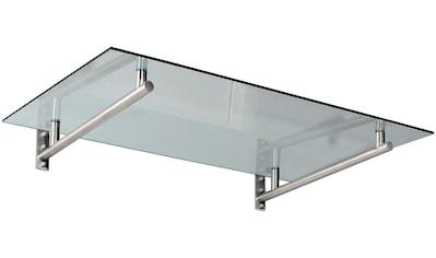 Gutta Vordach »HD 160«, 160x100x19,5 cm, silberfarben - transparent kaufen