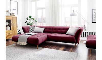 3C Candy Ecksofa »Trelleborg«, skandinavisches Design mit feiner Steppung und Holzfüßen kaufen