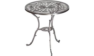 MERXX Gartentisch »Lugano«, Aluminium, Ø 70 cm, graphit kaufen
