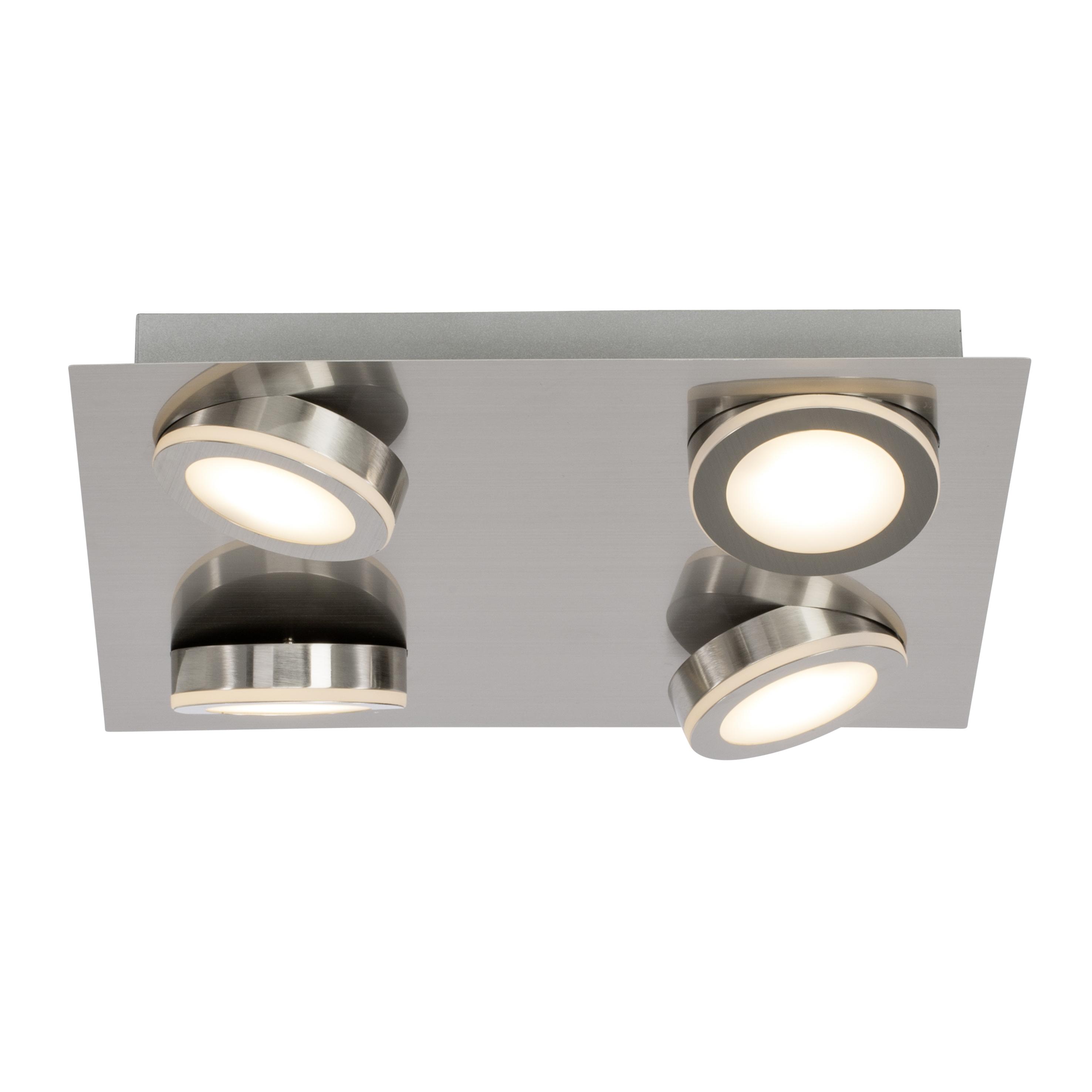 Brilliant Leuchten Champion LED Deckenleuchte 4flg Quadrat eisen