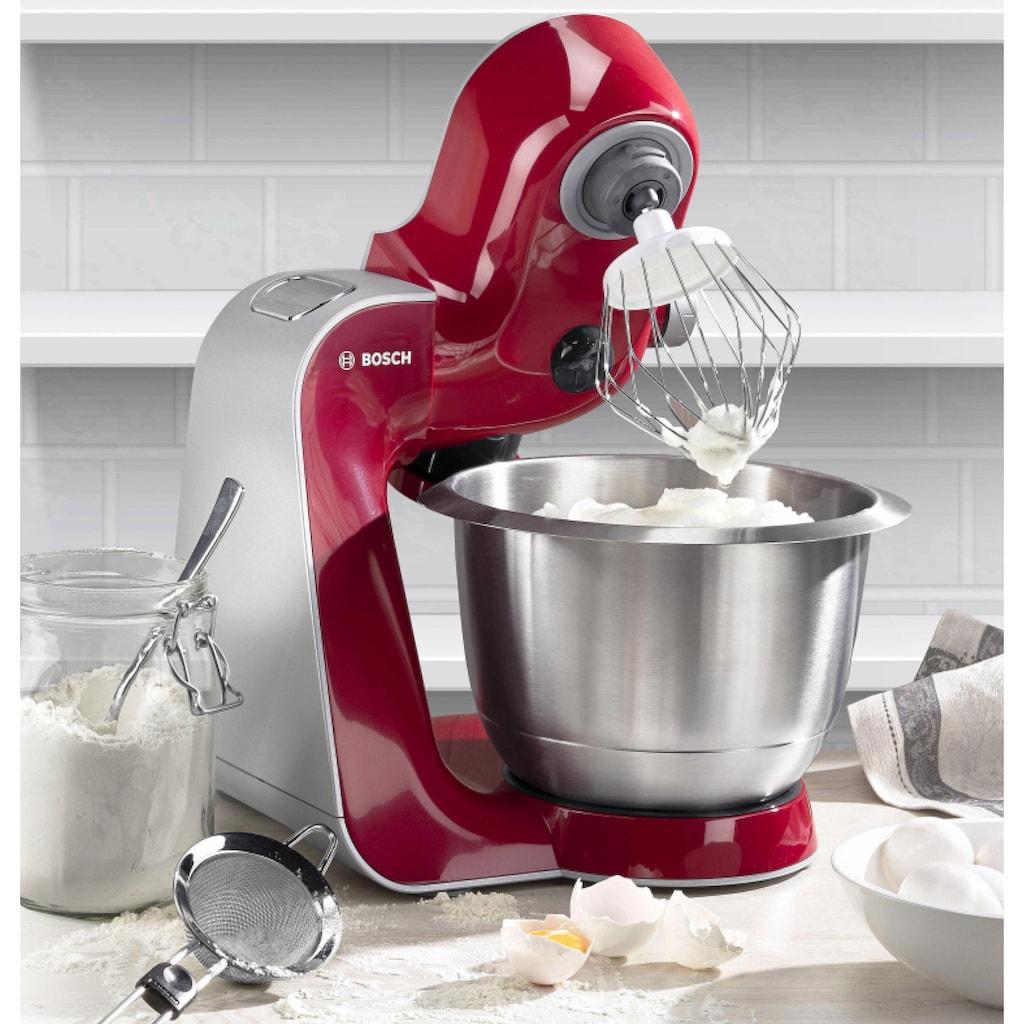 BOSCH Küchenmaschine Styline MUM56740 3,9l Edelstahl-Schüssel, automatischer Kabeleinzug, zusätzliches Zubehör im Wert von 111,97€, 900 Watt