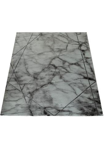 Paco Home Teppich »Kraft 523«, rechteckig, 17 mm Höhe, Kurzflor mit Marmor-Design, Wohnzimmer kaufen