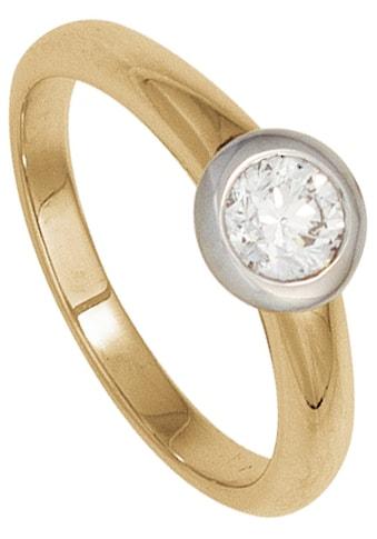 JOBO Solitärring, 585 Gelbgold Weißgold mit Diamant 0,15 ct. kaufen
