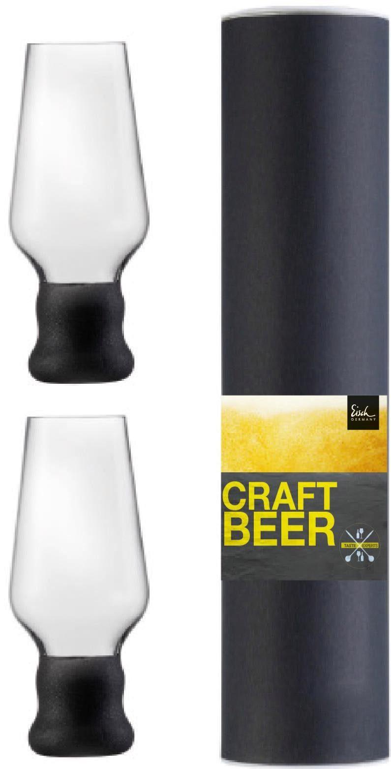 Eisch Bierglas Craft Beer Becher, (Set, 2 tlg.), bleifreies Kristallglas, 450 ml farblos Kristallgläser Gläser Glaswaren Haushaltswaren
