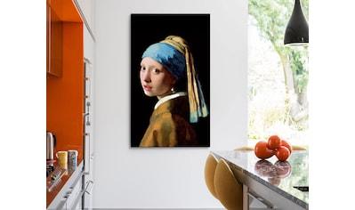 Reinders! Leinwandbild »Giclee on Canvas 70x118 Johannes Vermeer - Girl with a Pearl Earring« kaufen