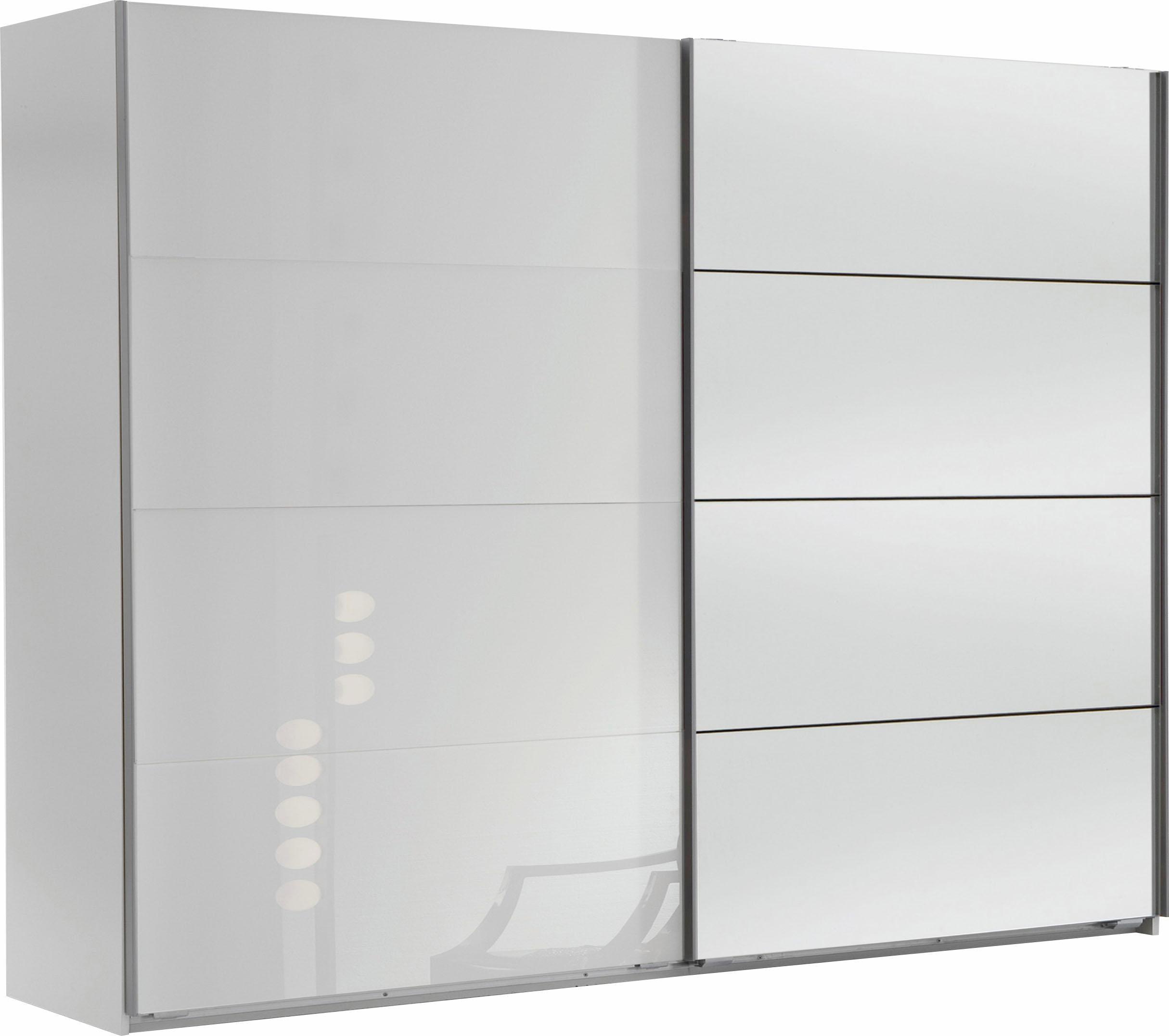 Wimex Schwebetürenschrank Easy mit Glas und Spiegel