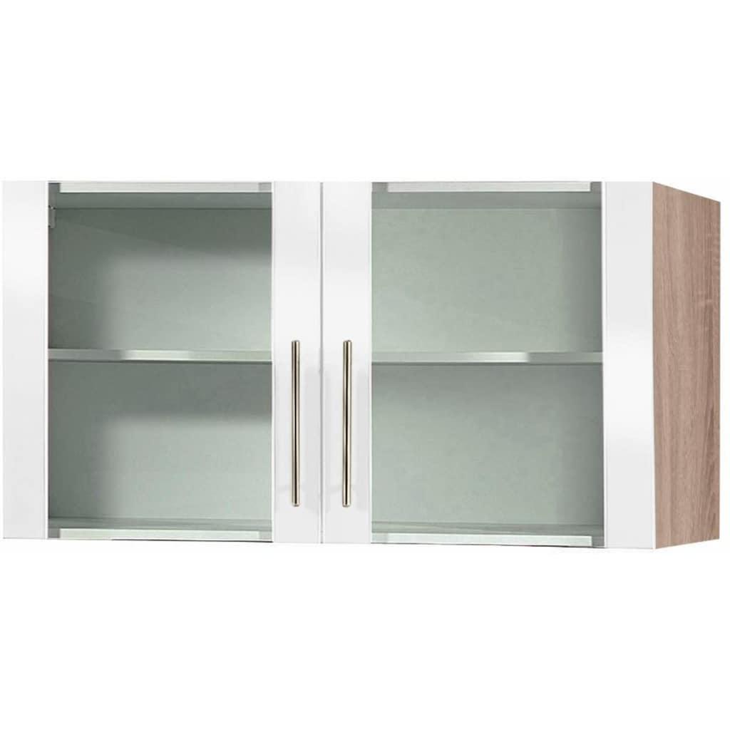 wiho Küchen Glashängeschrank »Aachen«, Breite 100 cm