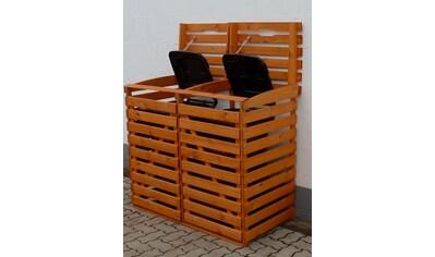 PROMADINO Mülltonnenbox , für 2x240 l aus Holz, B/T/H: 136/92/122 cm kaufen
