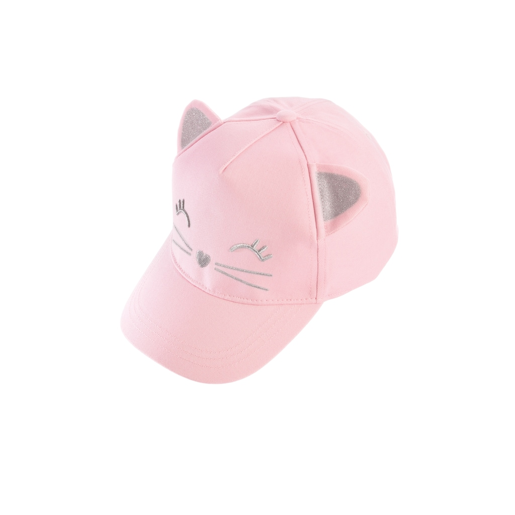 Chaplino Baseball Cap, mit niedlichem Katzengesicht