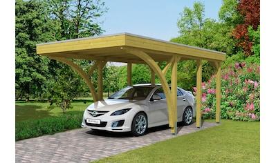 Skanholz Einzelcarport »Friesland 6«, Holz, 270 cm, grün-braun kaufen